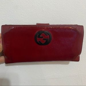 Authentic Gucci Wallet. Dark Red.